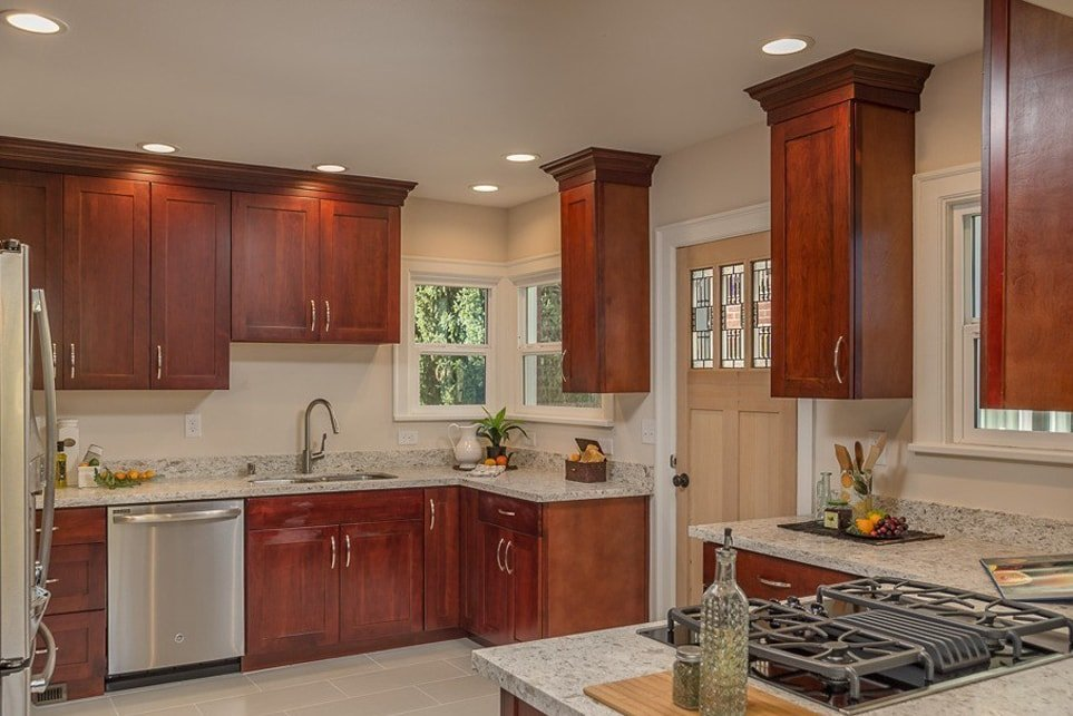Red Rose Kitchen Cabinets