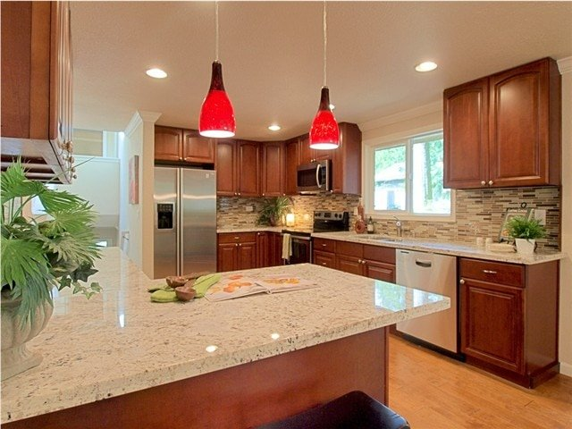 Cognac Raised Arch (Parawood) - Pius Kitchen & Bath on What Color Granite Goes With Maple Cabinets  id=42749