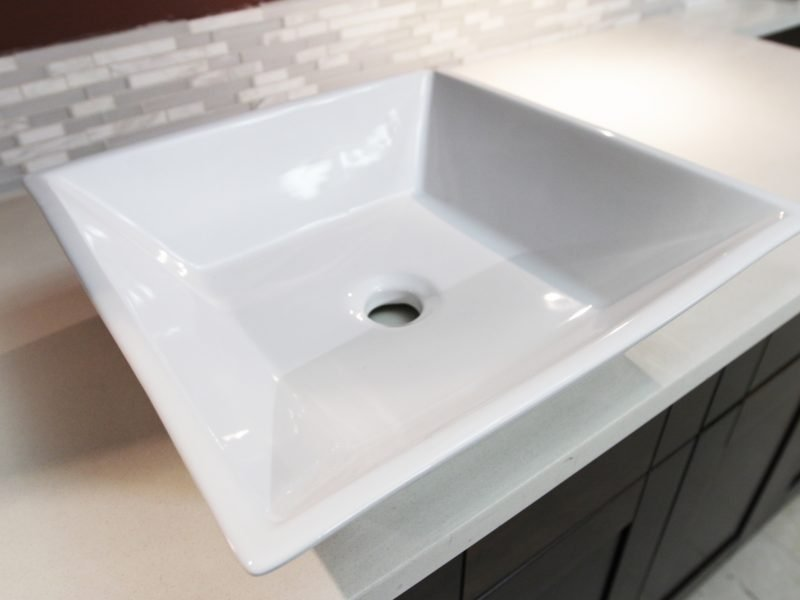 Square Angled Vessel White Porcelain Pius Kitchen